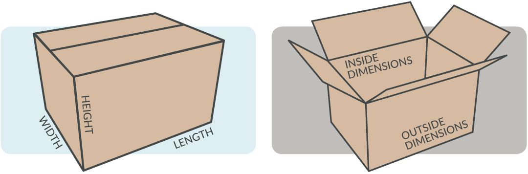 corrugate box dimensions