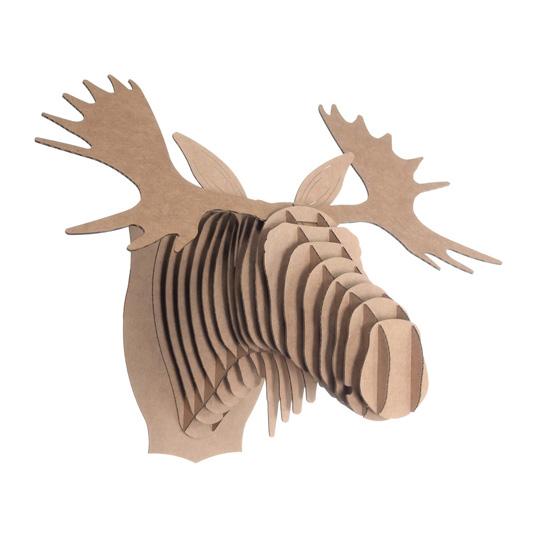 cardboard safari: fred the moose