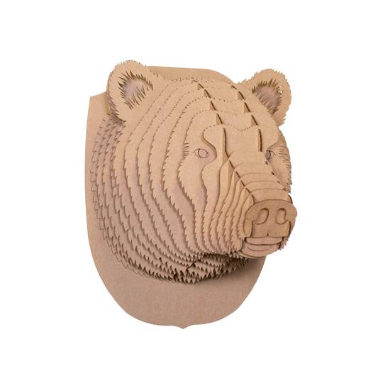 cardboard safari: stewart the bear