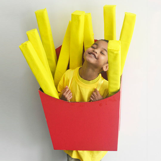 DIY Cardboard Costumes: Box o' Fries