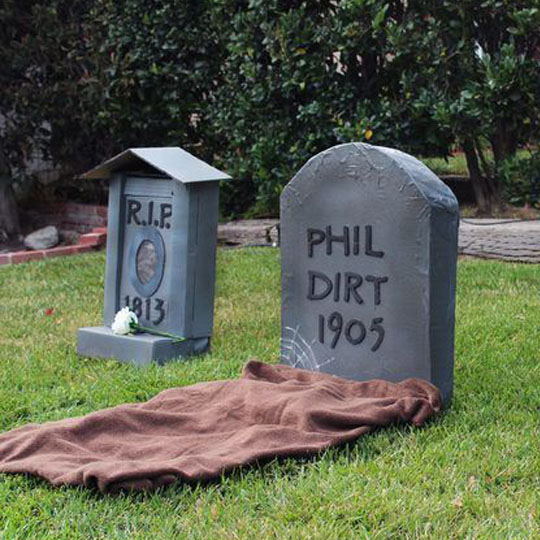 Decorating With Corrugate: Cardboard Tombstones