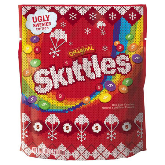 Christmas Candy Packaging: Skittles