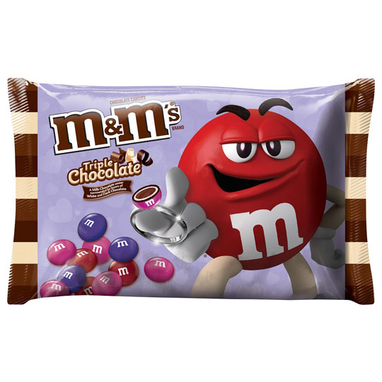 Valentine's Candy Packaging: M&M's Triple Chocolate