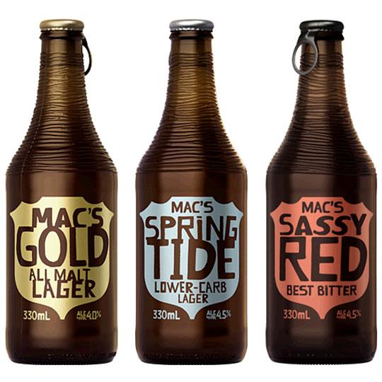 Beer Bottle Packaging: Mac's