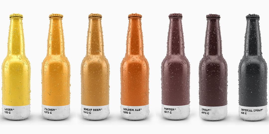 Beer Bottle Packaging: Pantone