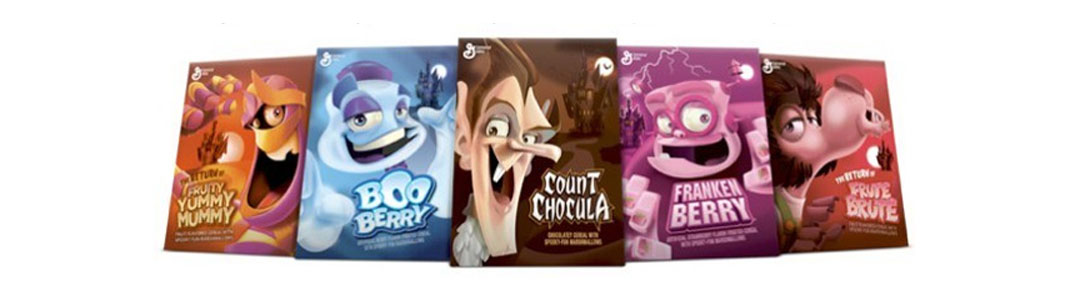 Halloween Cereal Packaging: Monster Cereals, Refreshed