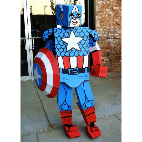 Corrugated Costumes: Golden Age Captain America