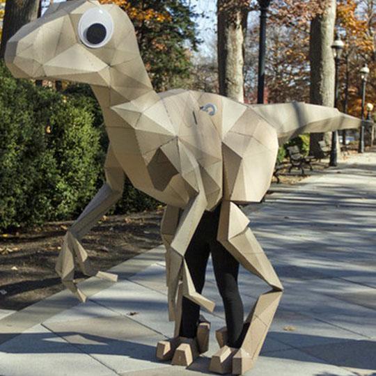 Corrugated Costumes: Velociraptor