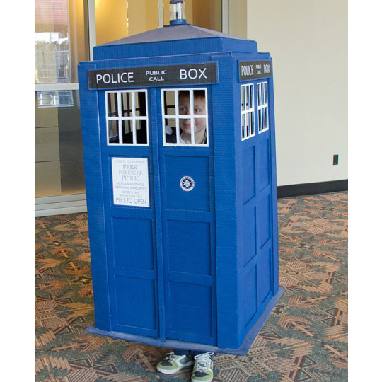 Corrugated Costumes: The TARDIS