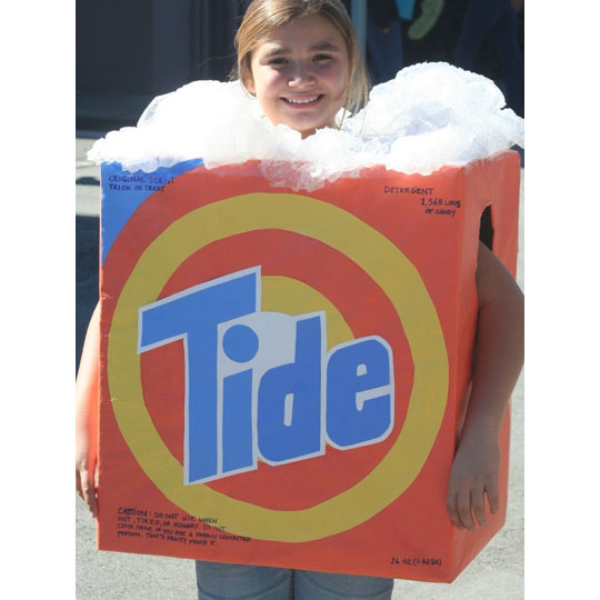 Corrugated Costumes: Tide Box