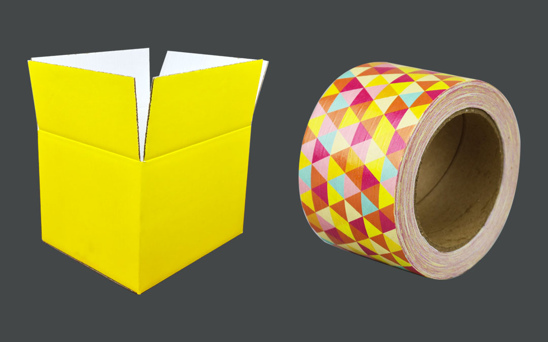 Custom Colour Boxes and Custom Tape: A Perfect Pairing