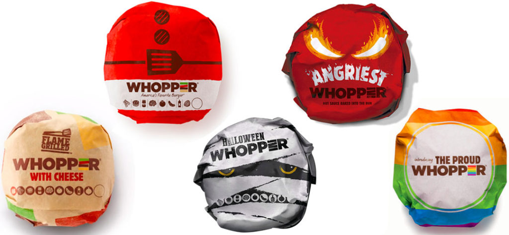 Burger King Whopper: Wrappers