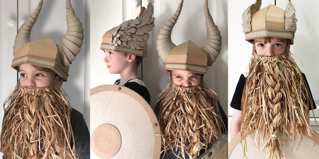 Halloween Corrugated Costumes: Vikings