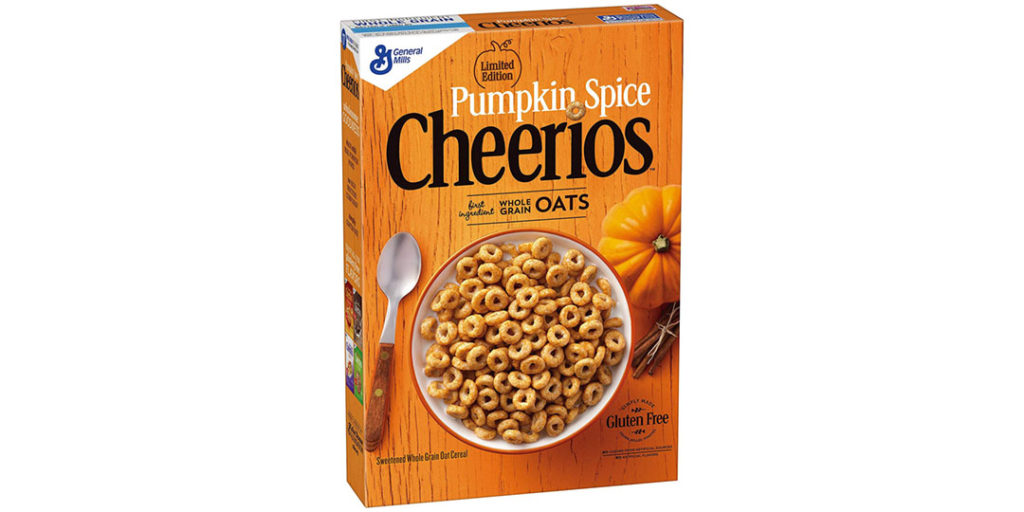 Pumpkin Spice Packaging: Cheerios