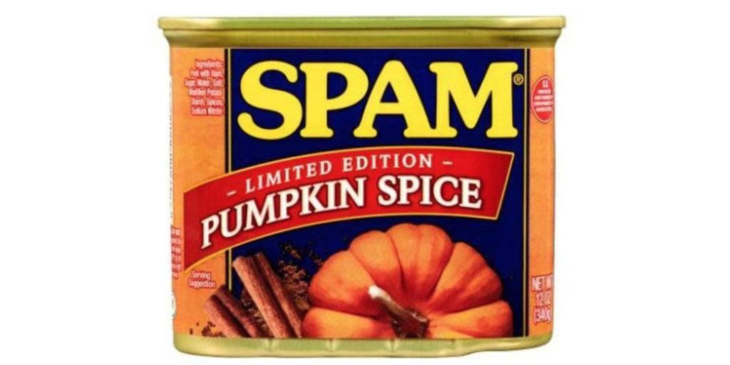 Pumpkin Spice Packaging: Spam