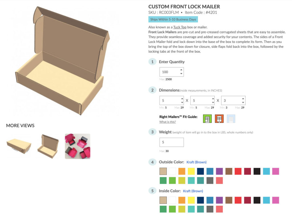 Right Mailers: Custom Colour Boxes Designer