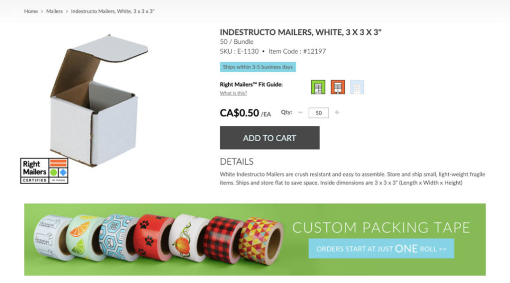Right Mailers: Indestructo Mailers Product Page