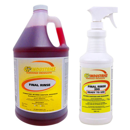 Social Distancing Supplies: Final Rinse Sanitizer & Disinfectant