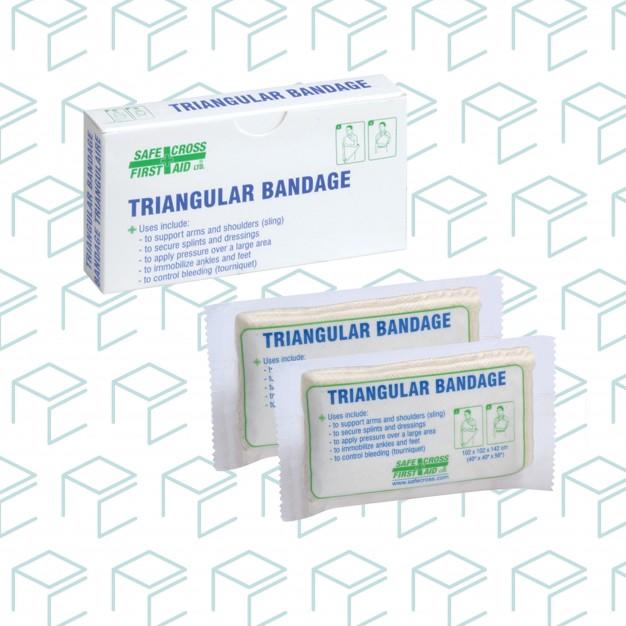 Compressed Triangular Bandage, Unitized - 2pk