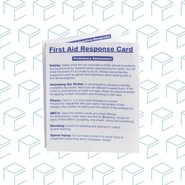 Bilingual First Aid Response Card