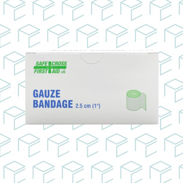 "Gauze Bandage Roll 1"" x 5yards, 6pk"