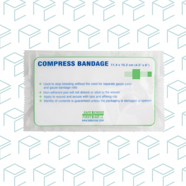 Compress Bandage with Rubber Elastic Tails & Clip