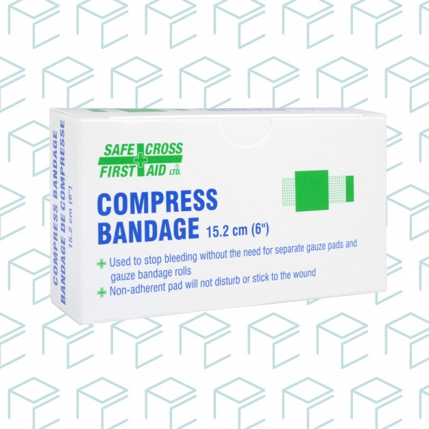 "Compress Bandage  6"" x 6"" - 1pk"
