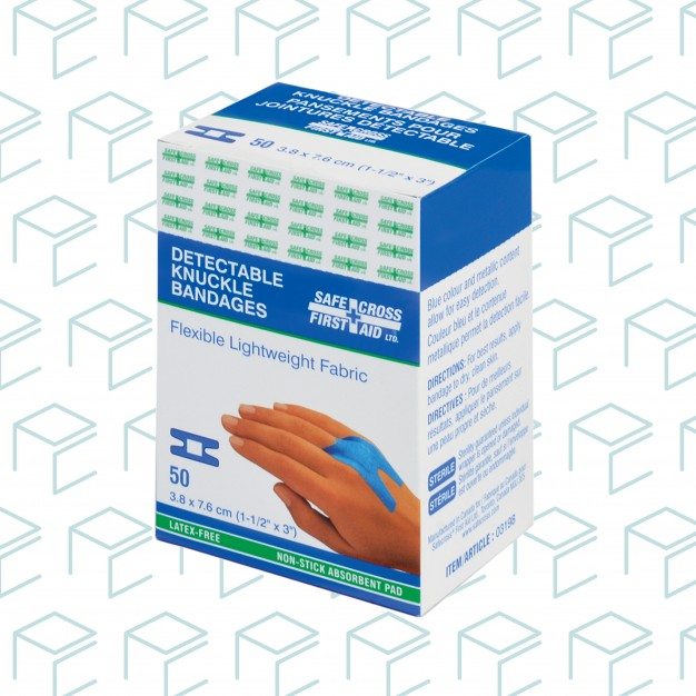 Fabric Detectable Knuckle Bandages - 50pk