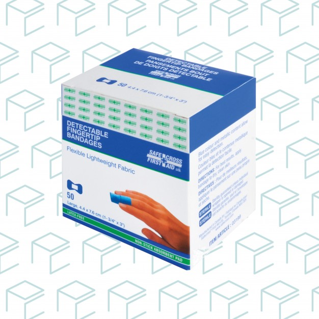Fabric Detectable Fingertip Bandages - 50pk