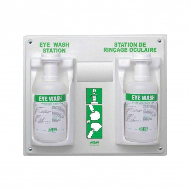 Eye Wash Station with 2 Eye Wash Solution Bottles
