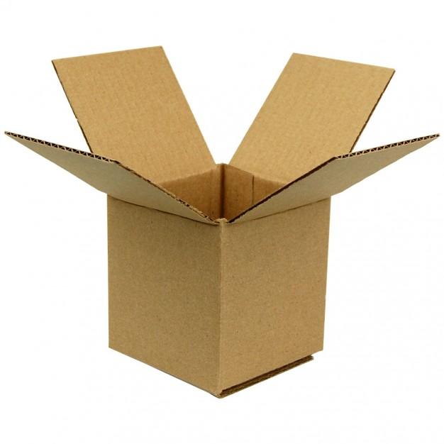 "Light Weight Kraft Boxes - 4"" X 4"" X 4"" - Full Overlap"
