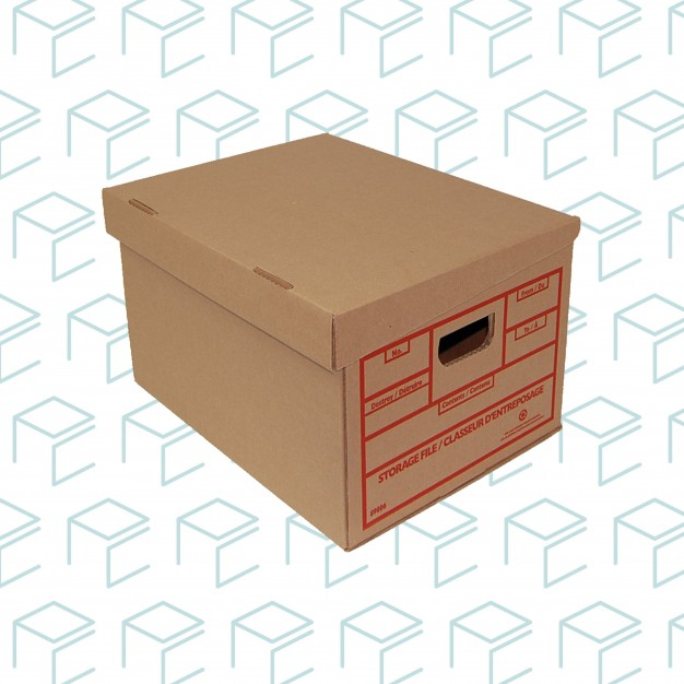 Storage and File Boxes with Attached Lid - 25 Boxes