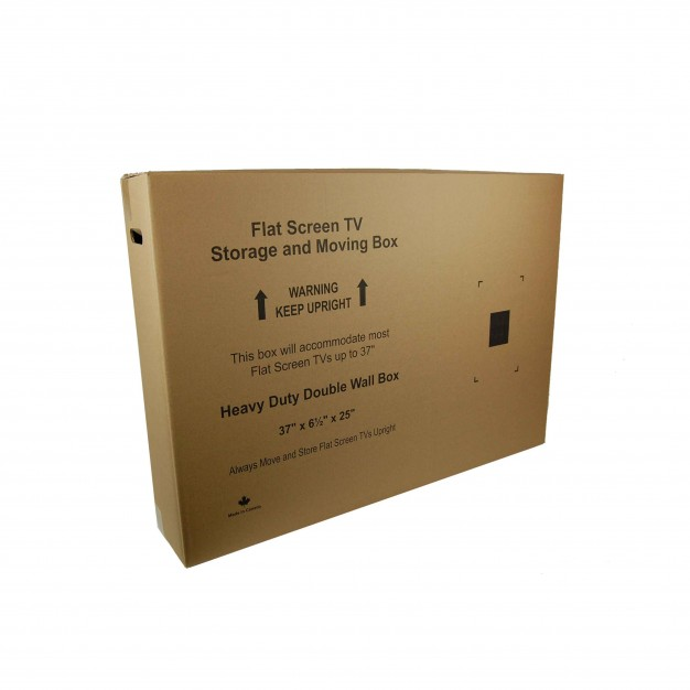 "Small Flat Screen TV Moving Box - 37"" X 6.5"" X 25"""