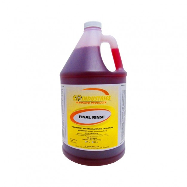 Final Rinse Disinfectant and Sanitizer Concentrate - 4L (4 Per Case)