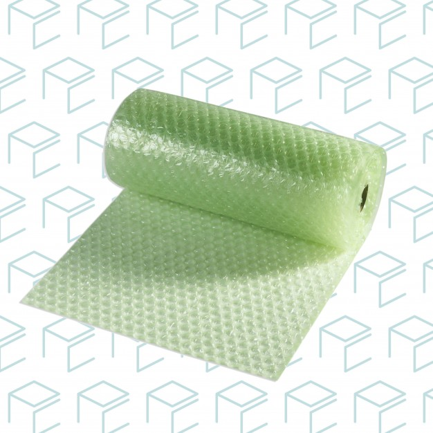 """Recycled Bubble Roll - 3/16"""" Small 12"""" X 25' - Easy tear - Case of 10"""