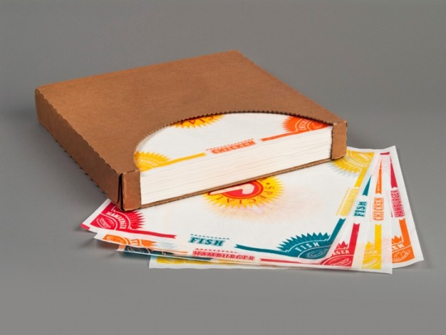 "Dry Waxed Food Sheets, 4 Way Multi, 12 x 12"""