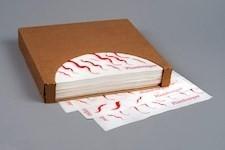 """Dry Waxed Food Sheets, Hamburger Wave, 12 x 12"""""""