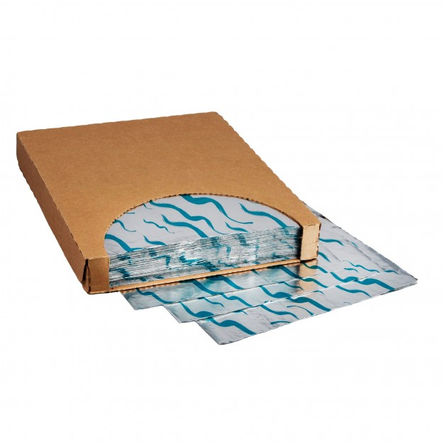 """Foil Sheets, Printed - Teal, 10 1/2 x 13"""""""