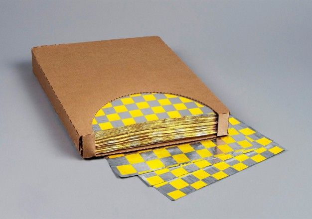 "Foil Sheets, 10 1/2 x 13"", Yellow Checkered"