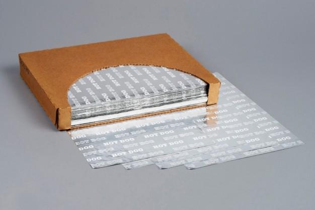 "Foil Sheets, Printed - Hot Dog, 12 x 9"""