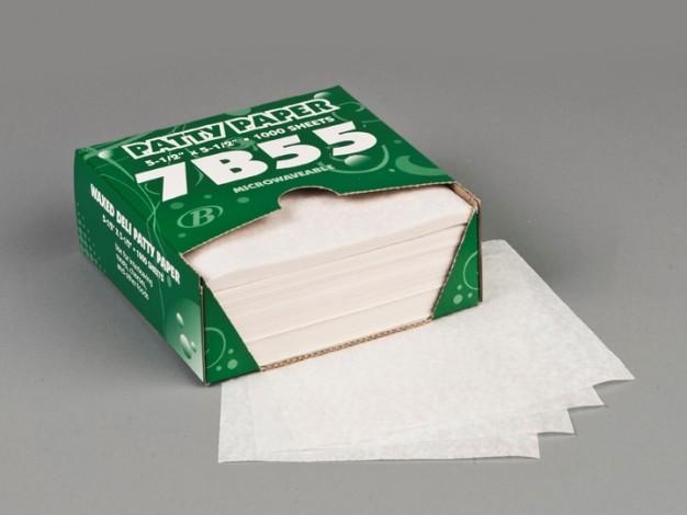 "Patty Paper Sheets, Waxed, 5 1/2 x 5 1/2"""