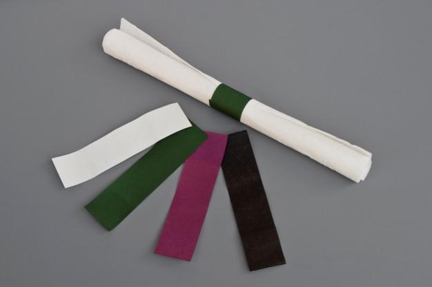 "Hunter Green Paper Napkin Rings, 6 x 1 1/2"""