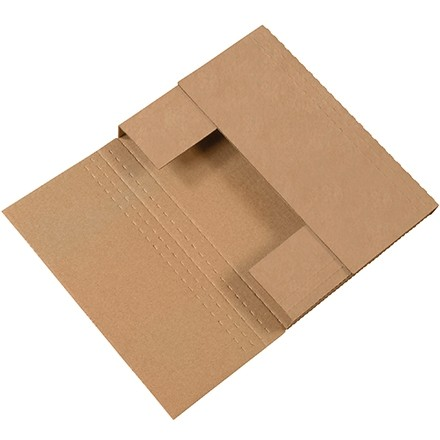 "Easy-Fold Mailers, Kraft, 12 1/8 x 9 1/8"", Multi-Depth Heights of 1/2, 1, 1 1/2, 2"""