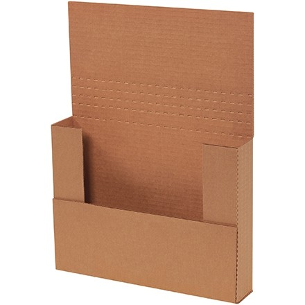 "Easy-Fold Mailers, Kraft, 11 1/8 x 8 5/8"", Multi-Depth Heights of 1/2, 1, 1 1/2, 2"""