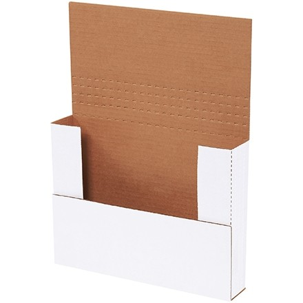 """Easy-Fold Mailers, White, 11 1/8 x 8 5/8"""", Multi-Depth Heights of 1/2, 1, 1 1/2, 2"""""""