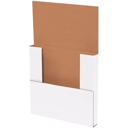 """Easy-Fold Mailers, White, 10 1/4 x 10 1/4"""", Multi-Depth Heights of 1/2, 1"""""""
