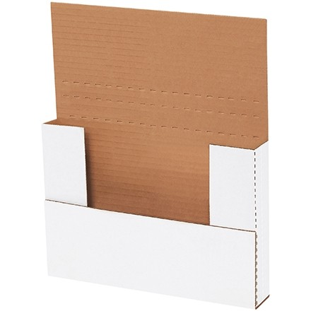 """Easy-Fold Mailers, White, 9 5/8 x 6 5/8"""", Multi-Depth Heights of 5/8, 1 1/4"""""""