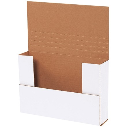 """Easy-Fold Mailers, White, 9 1/2 x 6 1/2"""", Multi-Depth Heights of 1/2, 1, 1 1/2, 2"""""""