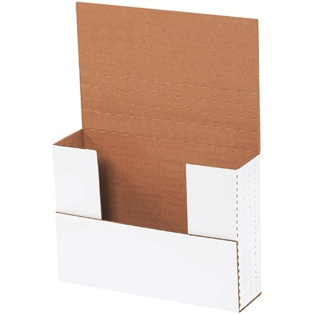 "Easy-Fold Mailers, White, 7 1/2 x 5 1/2"", Multi-Depth Heights of 1/2, 1, 1 1/2, 2"""