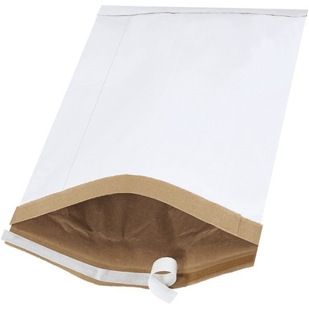 """Padded Mailers, #7, 14 1/4 x 20"""", White, Self-Seal"""